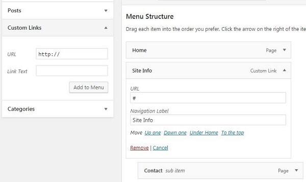 how to build a website to make money menu custom
