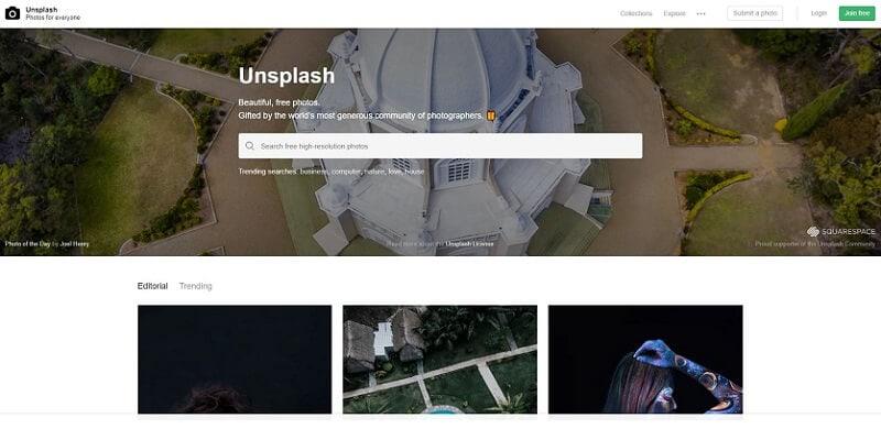 Finding Free Website Background Images Unsplash