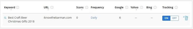 SEO Keyword Ranking Checker Tool Jaaxy track