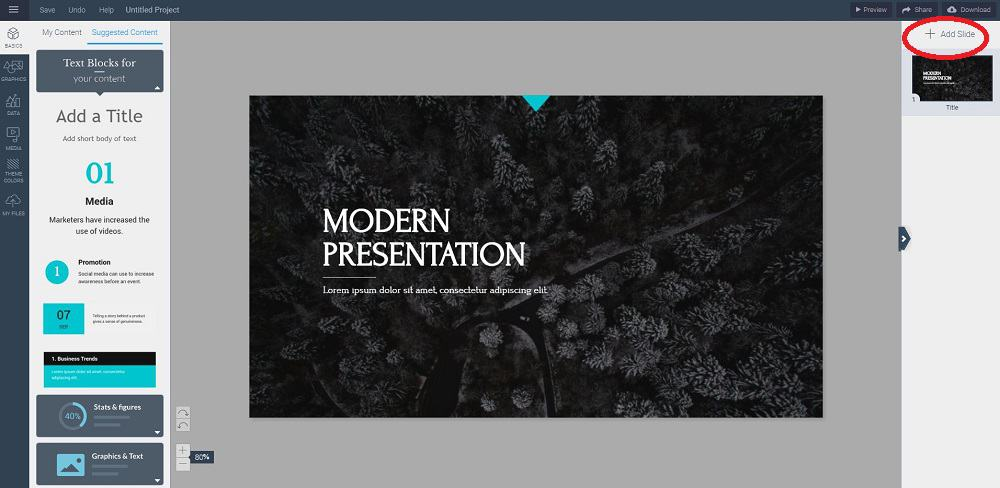 the most awesome free online presentation maker with infographics