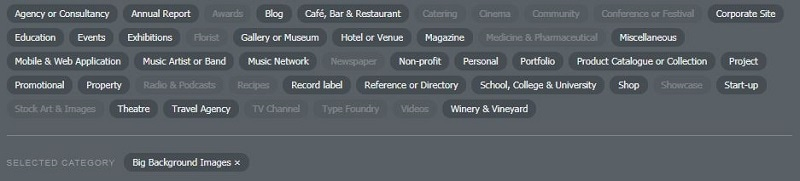 Website design inspirations tags