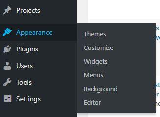 How to Create a Drop Down Menu in WordPress-menu