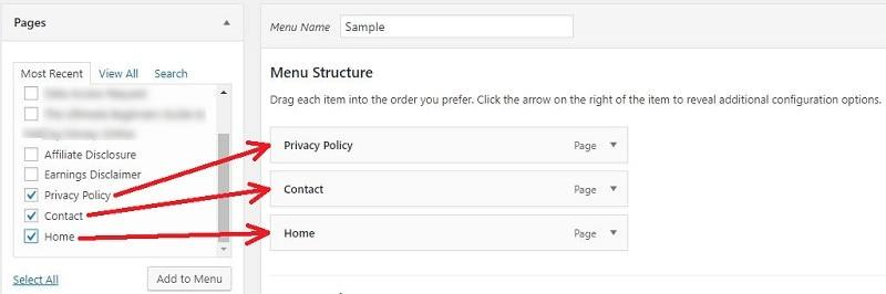 How to Create a Drop Down Menu in WordPress-menu4