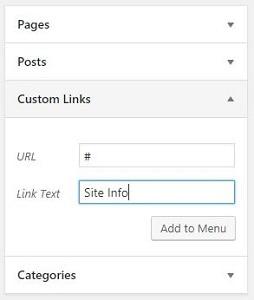 How to Create a Drop Down Menu in WordPress-site-info