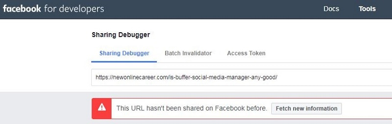 How to Debug for Facebook Posting-Not shared