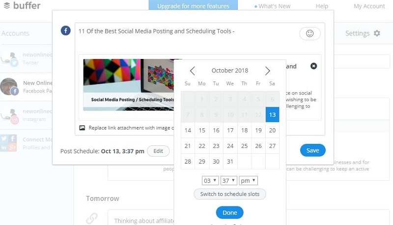 Is Buffer Social Media Manager Any Good - schedule