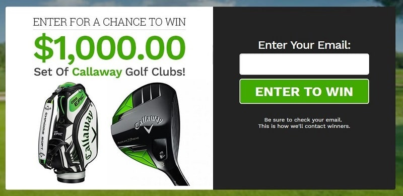 Make Money With Sweepstakes golf1