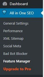 All-in-one-seo sitemap menu