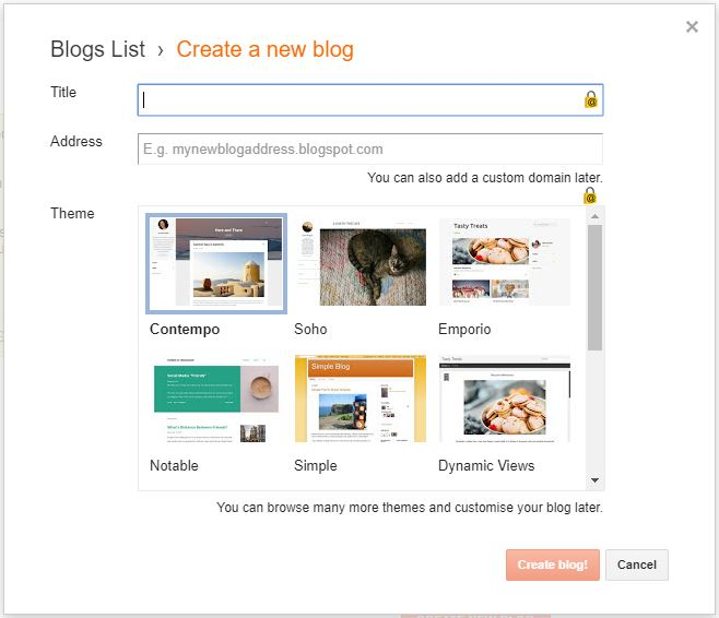 How to Create a Free Website with a Free Domain - Blogger-create