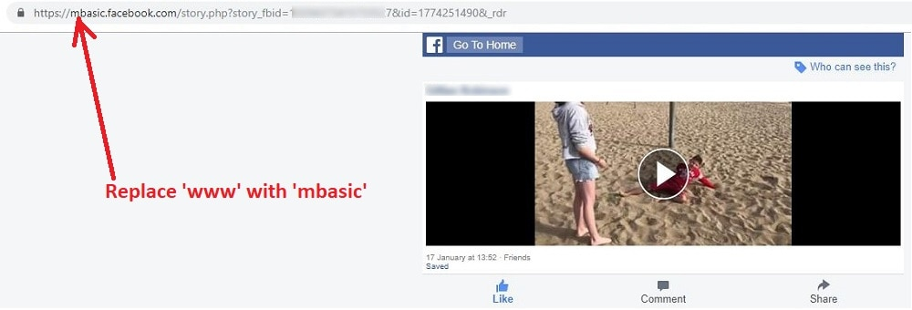 How to Download a Facebook Video mbasic
