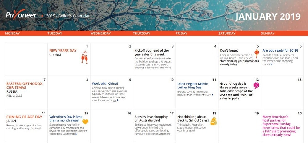 world celebrations calendar - example