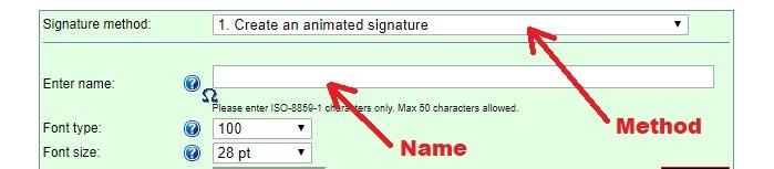 Free Online Signature Creator Signature Method