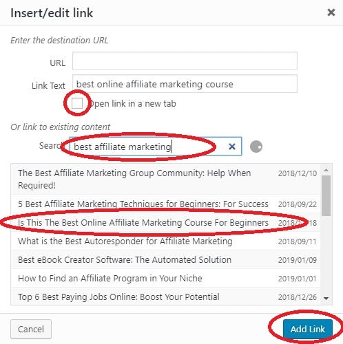 How to Create a Link to a Website edit link