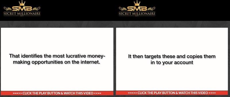 What is Secret Millionaire Bot About ClaimsA