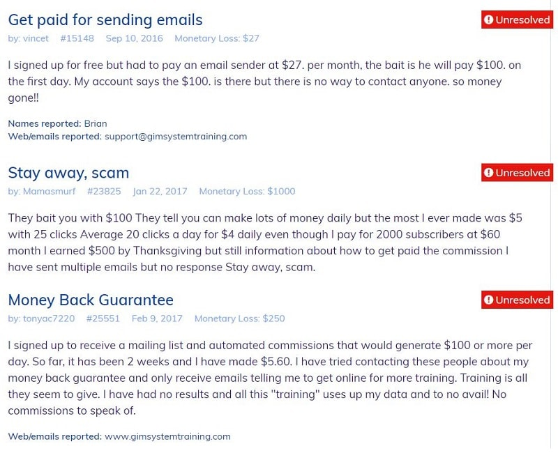 Copy My Email System Scam Complaints1