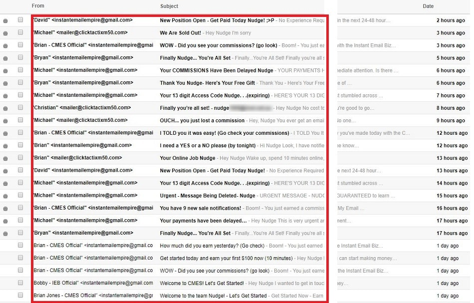 Copy My Email System Scam Emails1