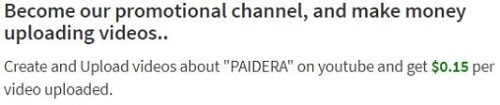Paidera Review Uploading Videos