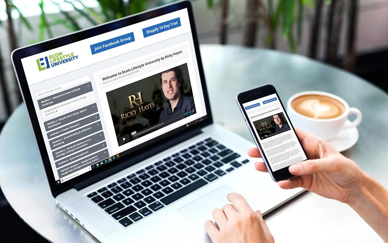 Ricky Hayes eCom Lifestyle University Review Inside2