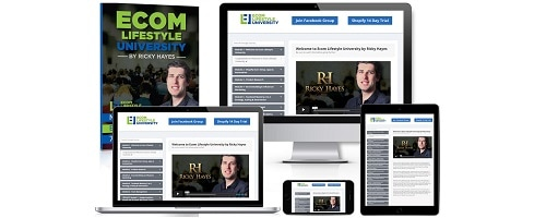 Ricky Hayes eCom Lifestyle University Review package