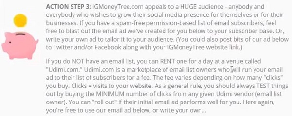 Is IG Money Tree a Scam ActionStep3