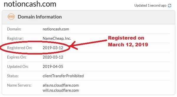 Is Notion Cash a Scam Registory