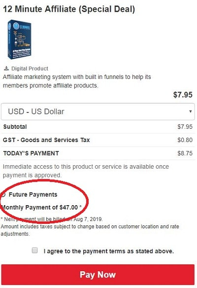 Is 12 Minute Affiliate a Scam 8- Payments