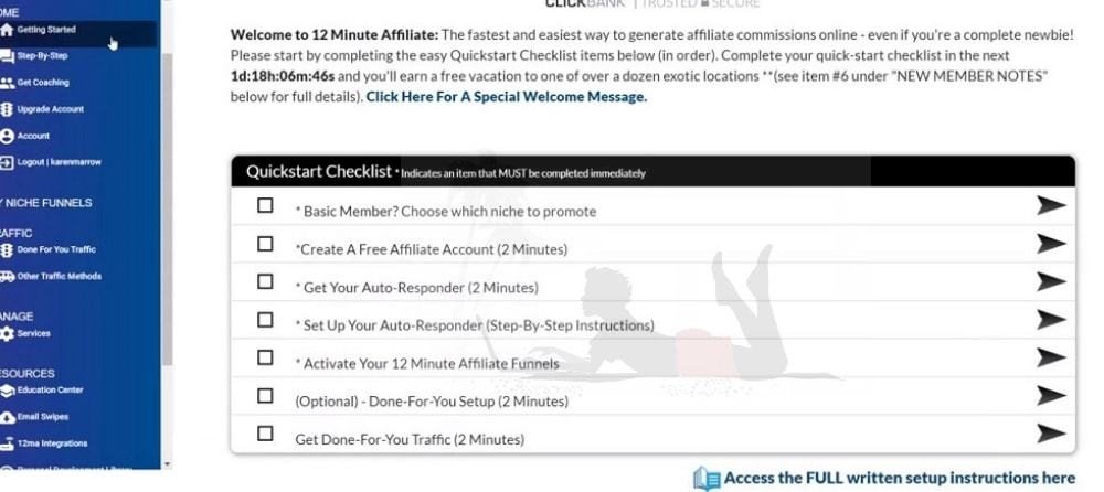 Is 12 Minute Affiliate a Scam Members Area