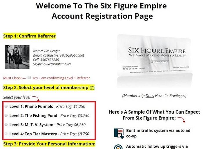 Is Six Figure Empite a Scam Registration