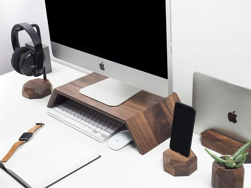 Best Gifts For The Entrepreneur at Home Walnut Desk Accessories