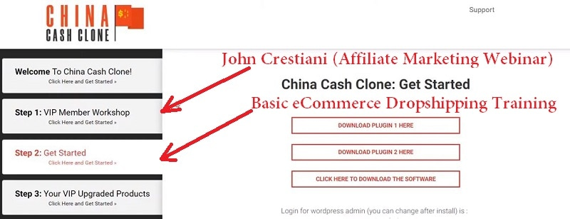 What is China Cash Clone Members Area
