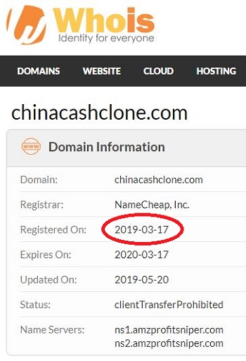 What is China Cash Clone Whois
