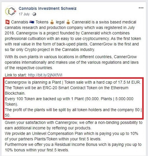Cannergrow crypto tokens