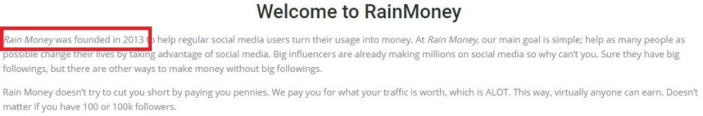 Rain Money Review Founded