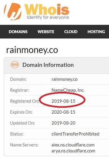 Rain Money Registration