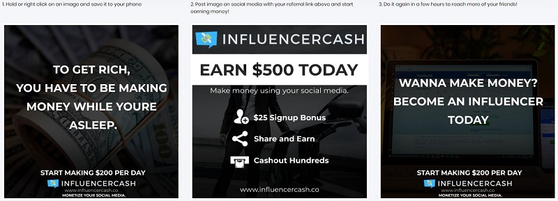 Influencer Cash Social Media Banners