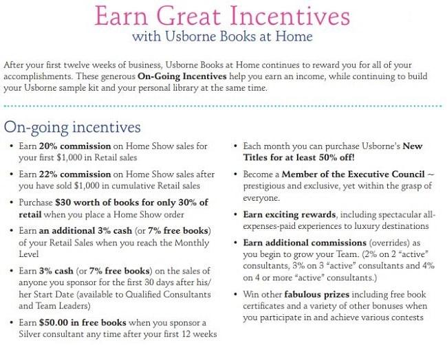 Usborne Books Incentives
