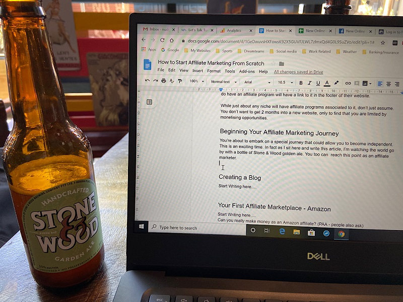 Writing This Article in a Bar