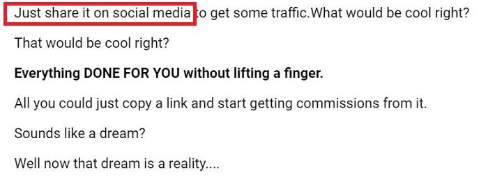 1 Click Affiliate Site Social Traffic