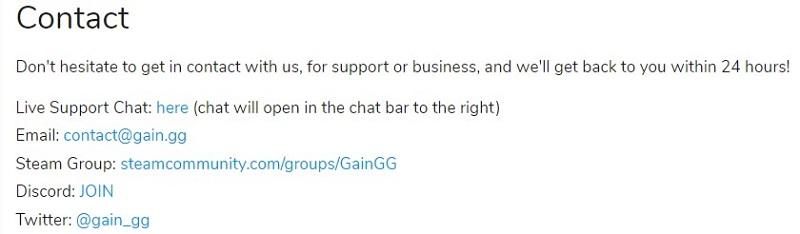 Gain.gg Support