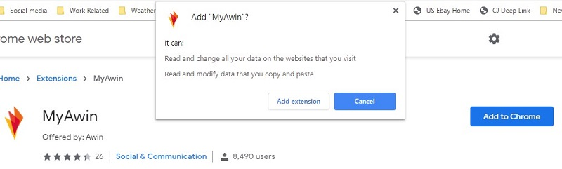 Awin Chrome Extension