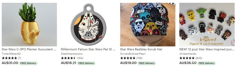 Star Wars Etsy Range