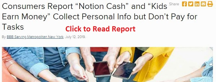 Click4Kash Consumer Report from BBB