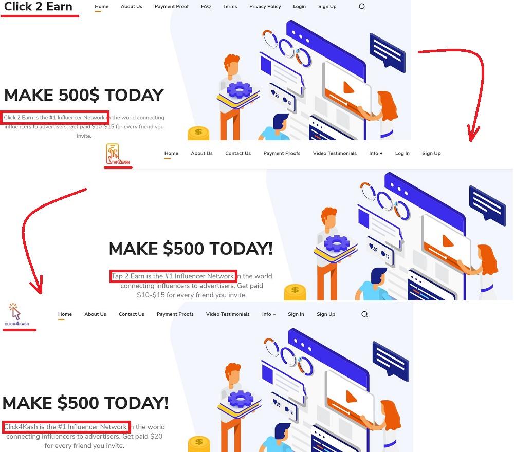 Click4Kash Replica Sites