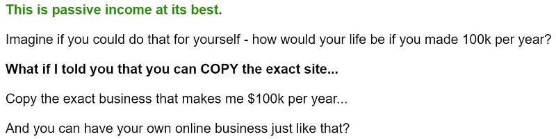 One Click SEO Store 100k per year