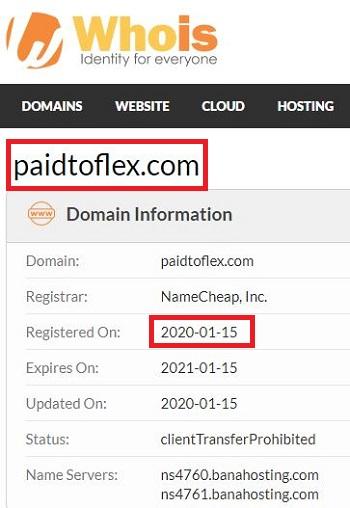 Paid to Flex Registration Date