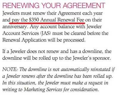 Premier Designs Jewelry Renewal Fee