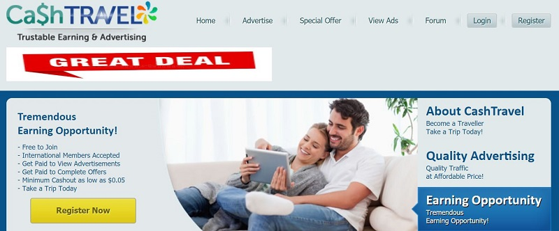 Cash travel ptc Homepage