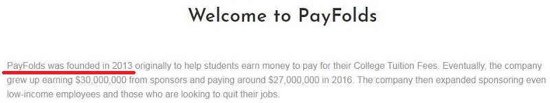 PayFolds Founded