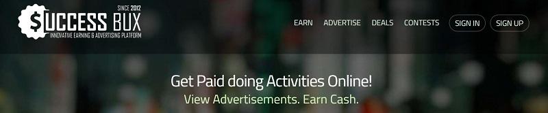 SuccessBux Homepage
