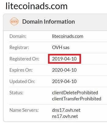 Litecoinads Registration Date